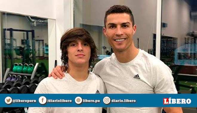 Cristiano Ronaldo lleva a las inferiores de la Juventus a su ahijado español, Pablo Moreno  Barcelona   Foto: Instagram