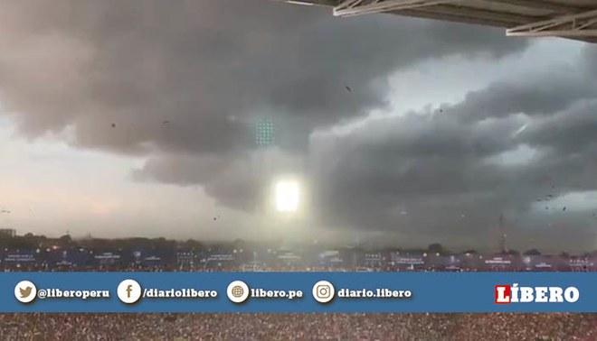 Colón vs Independiente: Las escalofriantes nubes que se visualizaron en la tormenta de Asunción por la final de la Sudamericana