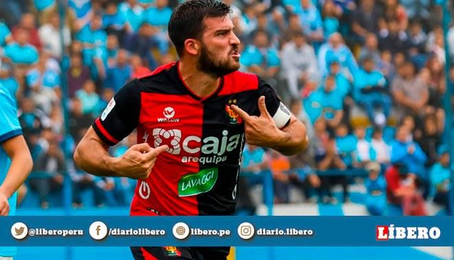Bernardo Cuesta pone el gol del empate para el equipo arequipeño   Foto: GLR