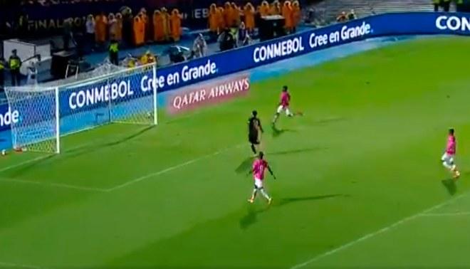 El gol que le dio el título al conjunto ecuatoriano. Créditos: Captura de tv