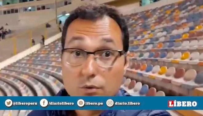 Ricardo Lay periodista brasileño visita el Monumental y lanza duras críticas al estadio de Universitario | Captura
