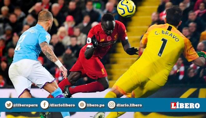 Sadio Mané pone el 3-0 ante los 'ciudadanos' por la jornada 12 de la Premier League   Foto: Twitter