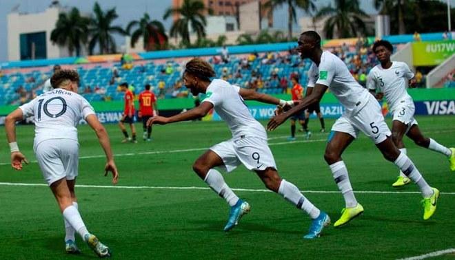 Francia goleó 6-1 España y clasificó a semifinales del Mundial Sub 17 | FOTO: EFE