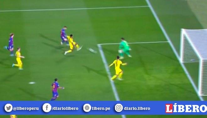 Barcelona vs Dortmund: Lionel Messi anota el 2-0 tras combinación con Luis Suárez. | Foto: Captura