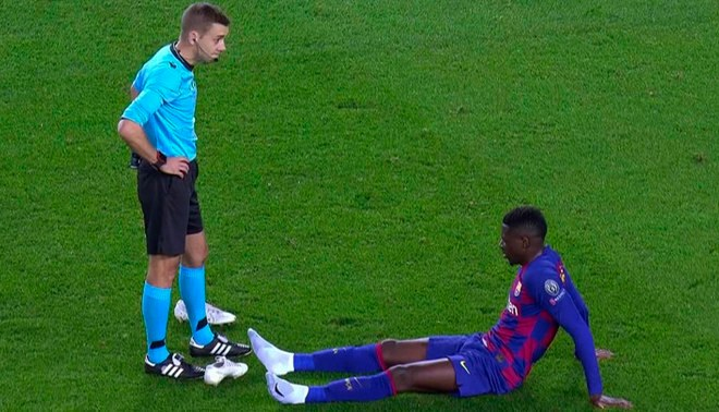 Ousmane Dembelé sufre una nueva lesión y es reemplazado por Antoine Griezzman | Foto: Twitter