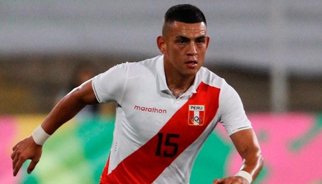 Eduardo Rabanal, durante un partido de la Selección Peruana Sub-23.