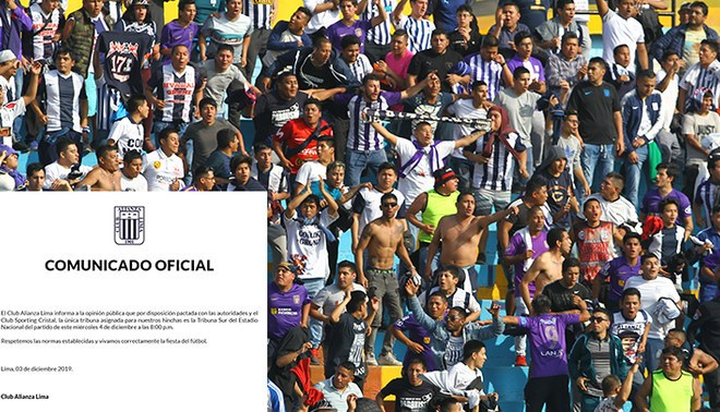 Alianza Lima, Tribuna Sur, Sporting Cristal