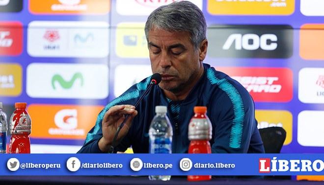 Juan Pablo Vergara: Pablo Bengoechea guardó un minuto de silencio por el fallecido jugador de Binacional | VIDEO