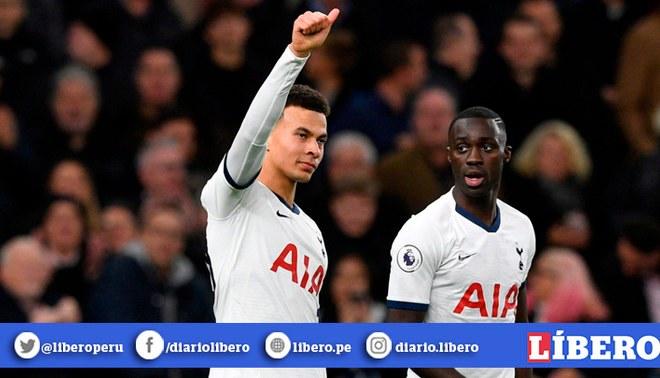 Dele Alli y su espectacular jugada para poner el 1-1 en Old Trafford. Créditos: EFE.