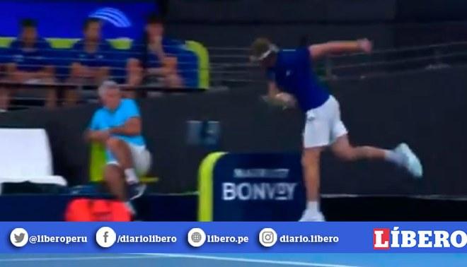 El tenista griego perdió el duelo ante Kyrgios. Créditos: Captura de video