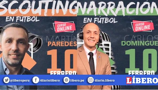 La Pizarra del DT presenta cursos de narración, marketing deportivo, scouting, analista táctico, caricaturista y derecho deportivo con Martín Paredes y Carlos Domíngues