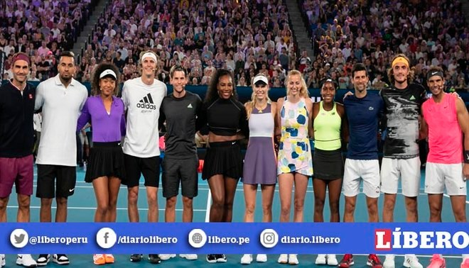 El enorme gesto de Rafael Nadal y las estrellas de tenis   FOTO: AusOpen