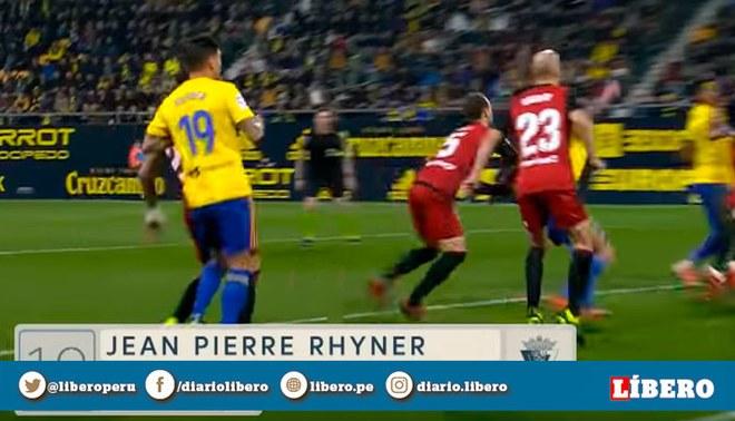 Jean Pierre Rhyner anotó su primer gol oficial con el Cádiz