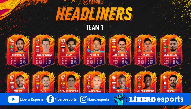 HeadLiners FIFA 20 Ultimate Team | FOTO: EA Sports