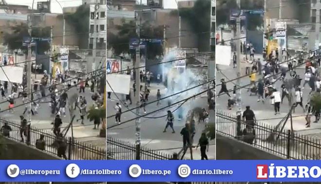 Alianza Lima | Hinchas protagonizan disturbios en la previa de la 'Noche Blanquiazul'