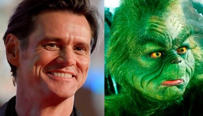 """Jim Carrey transforma su rostro en """"El Grinch"""" sin maquillaje"""