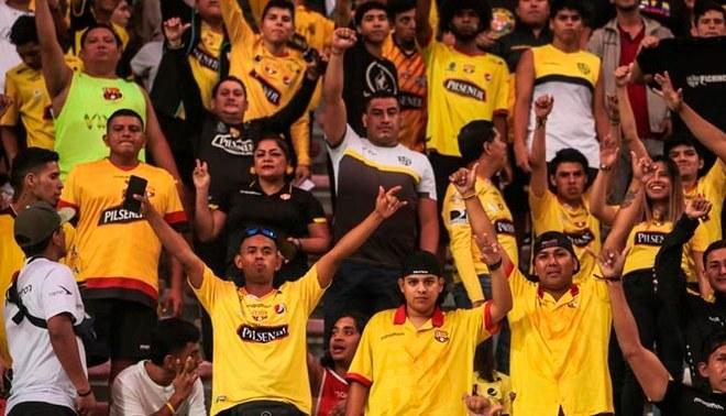 Hinchas de Barcelona de Guayaquil en el Estadio Nacional | FOTO: Barcelona S.C.