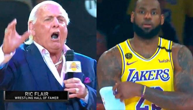 Ric Flair sorprende con emocionante presentación para LeBron James y los Lakers [VIDEO]
