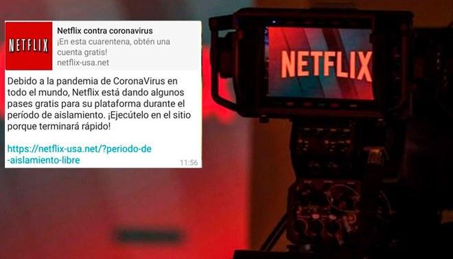 Netflix no está regalando suscripciones por la cuarentena