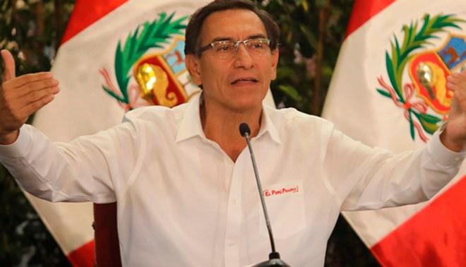 Martín Vizcarra, actual presidente del Perú | Fuente: Difusión.