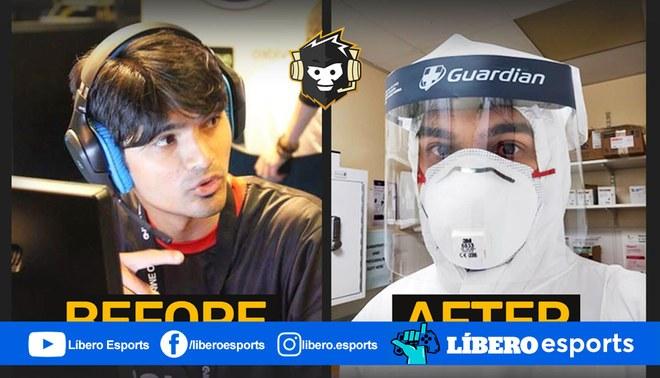 Ex profesional de Counter Strike ahora enfrenta al COVID-19 en la primera linea. | Foto: AFKGaming
