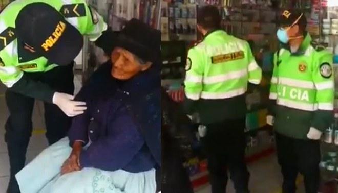 Policías se enteran que anciana no fue beneficiada y le compra medicamentos