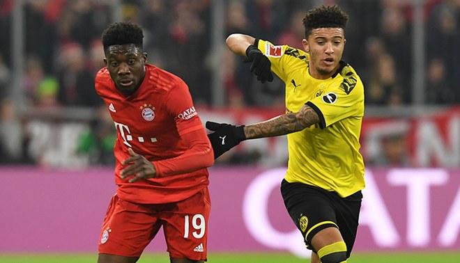 Jadon Sancho enfrenta a Alfonso Davies en el Bayern Múnich vs Borussia Dortmund de la primera rueda.