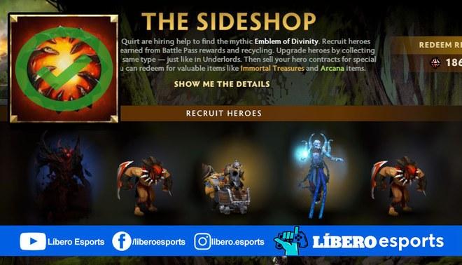 """The Sideshop tenía """"Aegis"""" porque ha vuelto a la vida con el último parche de Dota 2.   Foto: Composición"""