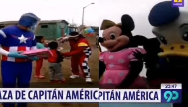 Alcalde y funcionarios se disfrazan para entregar donaciones y alegrar a niños
