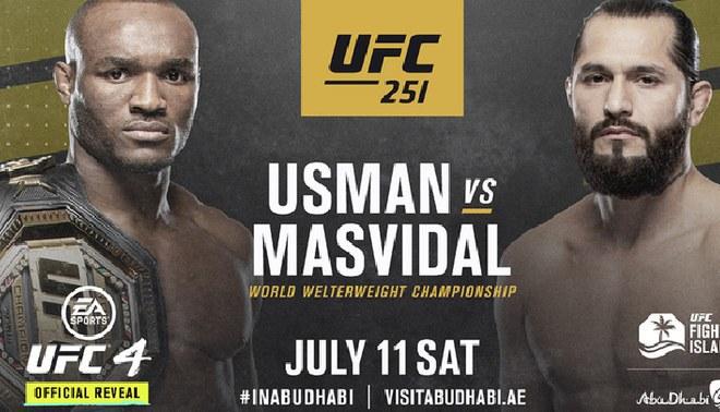 [UFC 251 EN VIVO] Kamaru Usman vs Jorge Masvidal: fecha, día, hora, canal y cartelera del UFC Fight Island