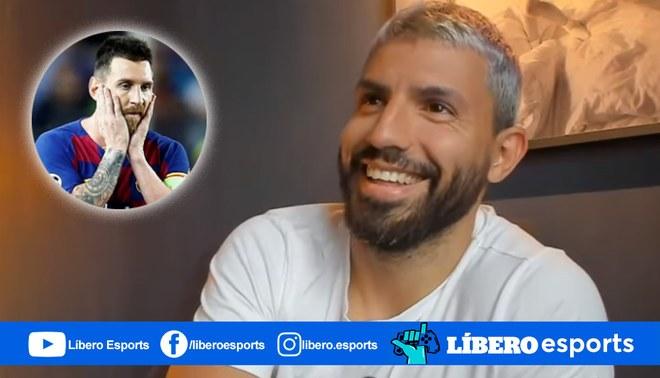 """Sergio Agüero le dice """"salchichón"""" a Lionel Messi durante su transmisión en Twitch"""