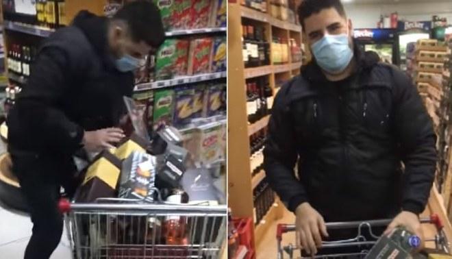 Facebook: gana concurso y llena el carrito de supermercado de solo licores