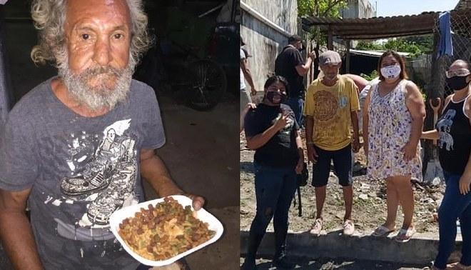 Anciano, a quien le entregaron croquetas para perro cuando pidió comida, recibió una gran sorpresa | Foto: Elian Cruz/Fabián Gonzalez Facebook