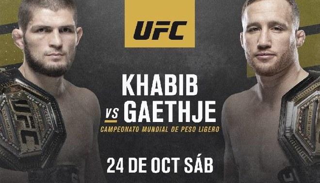 UFC confirmó el día para la pelea Khabib y Gaethje por el título de peso ligero