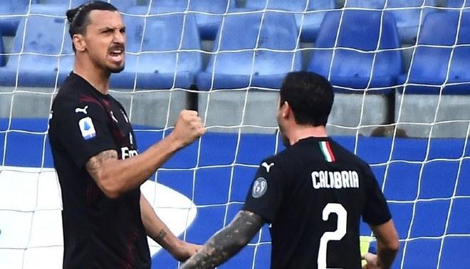 AC Milan vs Sampdoria: Ibrahimovic anotó golazo de cabeza | FOTO: EFE