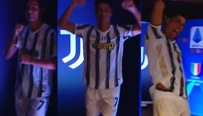 Cristiano Ronaldo y su baile para recibir el título de la Serie A