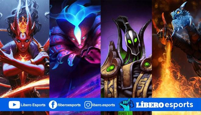 Queen of Pain, Spectre, Rubick, Jakiro son algunos de los héroes meta del parche 7.27c.   Foto: Composición