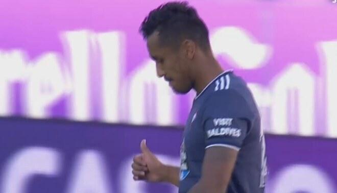 Recuperación de Renato Tapia y Aspas anotó el 1-0 para el Celta de Vigo. Créditos: captura de pantalla.