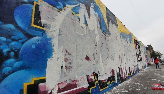 Sujetos destruyeron mural en honor a Bryan e Inti. Créditos: Vanessa Trebejo / URPI-GLR