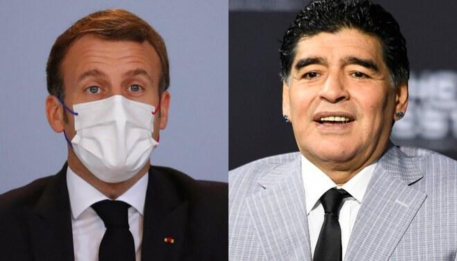 Presidente de Francia dedica emotiva carta a Diego Armando Maradona