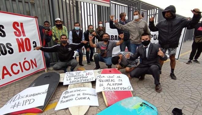 Surfistas alzaron su voz en sede del IPD por abandono en Federación Nacional de Tabla