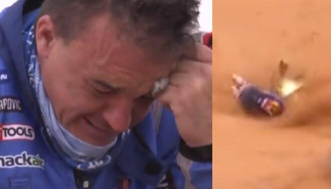 Ross Branch sufrió fuerte accidente en la etapa maratón del Rally Dakar 2021