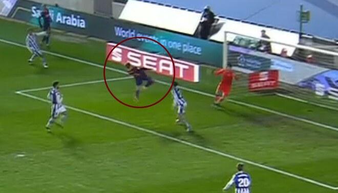 De Jong anotó el 1-0 en semifinal de la Supercopa de España. Foto: Captura