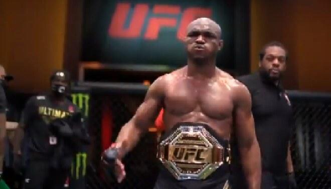 UFC 258: Usman derrotó por nocaut técnico a Burns y sigue como campeón wélter