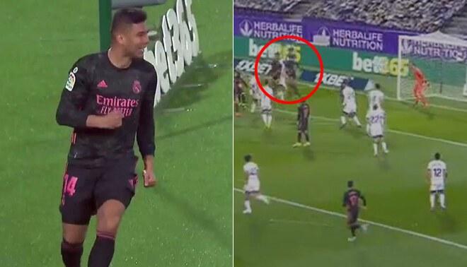 Casemiro rompió la paridad en el Real Madrid vs Valladolid.