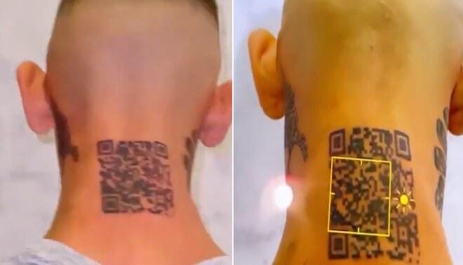 Viral: Joven se tatúa el QR de su Instagram, pero todo acaba mal - VIDEO