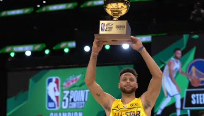 Stephen Curry ganó concurso de triples en el NBA All STAR Game 2021