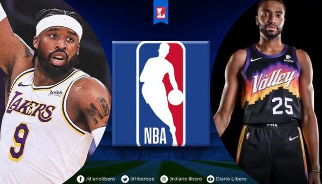 Lakersvs. Suns EN VIVO se enfrentan por una nueva temporada de la NBA, FOTO: Lakers y Suns