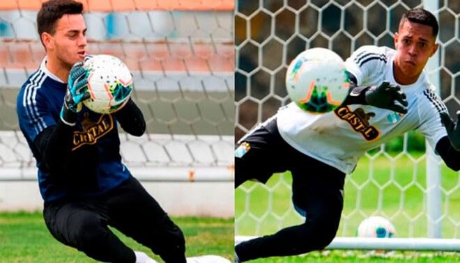 Alejandro Duarte y Renato Solís luchan por el puesto de titular en Sporting Cristal.