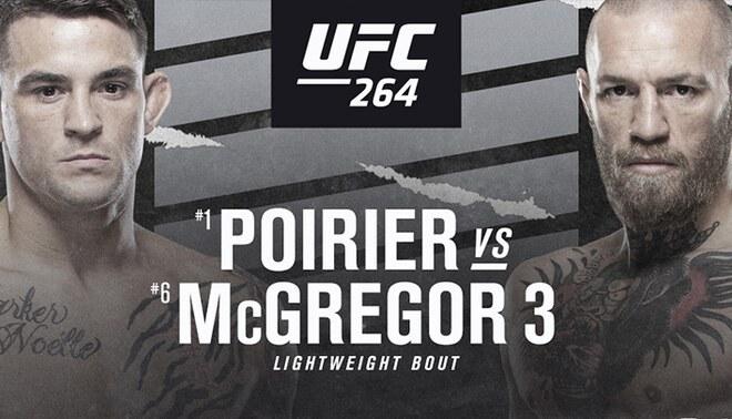 Conor McGregor vs Poire EN VIVO vía UFC 264. FOTO: UFC.